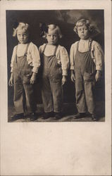 Three Girls in Overalls