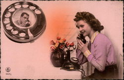 Couple Speaking Over Telephone
