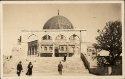 Four People on Steps of a Mosque Postcard