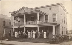 Hotel With People On Porch
