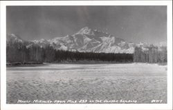 Mount McKinley from Mile 233 on the Alaska Railroad Postcard