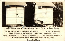 All Weather Conditioned Air Cabins For Rent