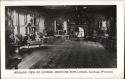 Interior View of Lounge, Medicine Bow Lodge