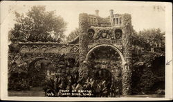 Grotto of the Redemption - Front of Grotto Postcard