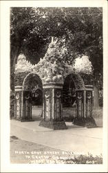 North East Street Entrance to Grotto Grounds Postcard