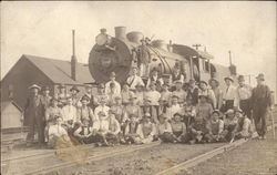 People In Front of Train Engine