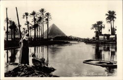 Flood Time near Pyramids Postcard