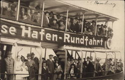 German Ferry with Many Passengers