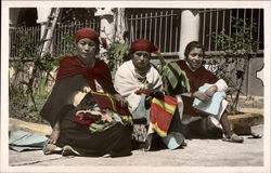 Three Female Ecuadorean Vendors Postcard