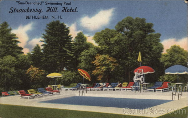 Sun-Drenched Swimming Pool, Strawberry Hill Hotel Bethlehem New Hampshire