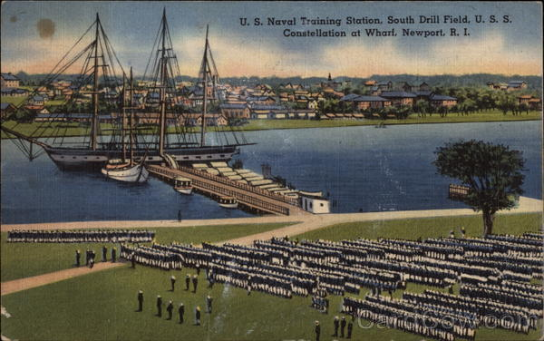 U.S. Naval Training Station, U.S.S. Constellation Newport Rhode Island