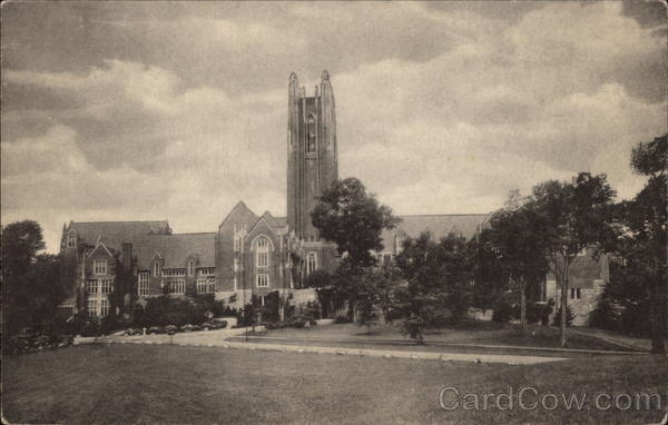 Wellesley College - Green and Founder Halls, and Galen Stone Tower Massachusetts