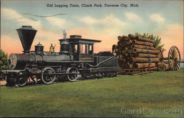 Old Logging Train, Clinch Park Traverse City Michigan