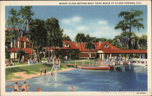 Where Glass Bottom Boat Trips Begin Silver Springs Florida