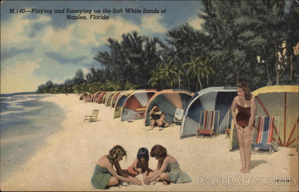 Playing and Sunnying on the Soft White Sands Naples Florida