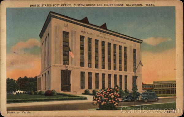 Post (TX) United States  city pictures gallery : United States Post Office, Custom House and Court House Galveston ...
