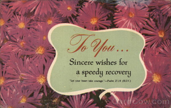 Sincere Wishes for a Speedy Recovery Greetings