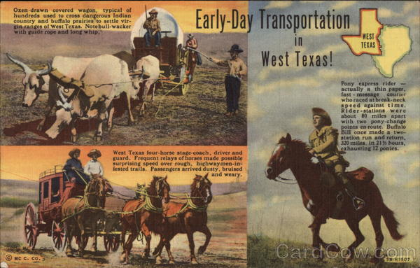 Early Day Transportation in West Texas Cowboy Western