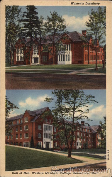 Western Michigan College - Women's Dormitory and Hall of Men Kalamazoo