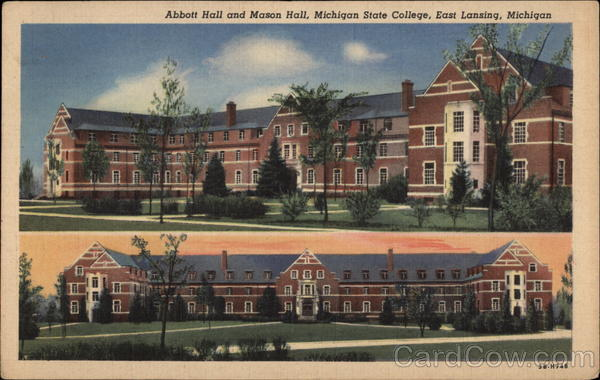 Abbott Hall and Mason Hall, Michigan State College East Lansing