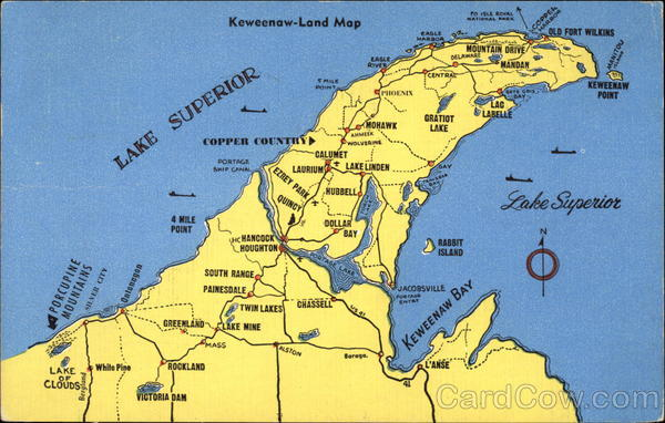 Keweenaw-Land Map Maps