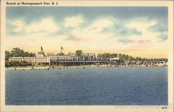 Beachfront at Narragansett Pier Rhode Island