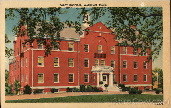 Tobey Hospital, Dedicated in 1940 Wareham Massachusetts