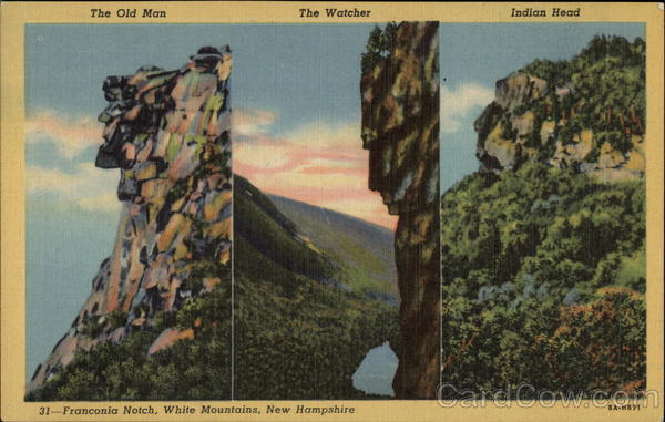 The Old Man The Watcher Indian Head Franconia Notch Nh