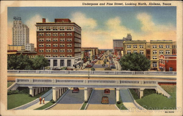 Underpass and Pine Street, Looking North Abilene Texas