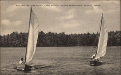 Sailing on Lake Rudd - Camp Becket-in-the-Berkshires