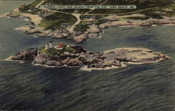 Nubble Light and Island From the Air