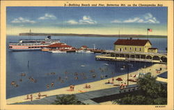 Bathing Beach and Pier on the Chesapeake Bay