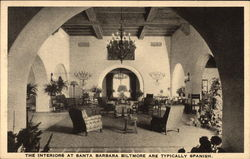 The interiors at Santa Barbara Biltmore are typically Spanish
