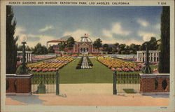 Sunken Gardens and Museum, Exposition Park Postcard