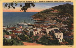 Avalon Bay, Residence of P.K. Wrigley in Foreground