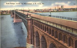 Eads Bridge across the Mississippi Postcard