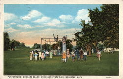 Playground, Orchard Beach, Michigan State Park