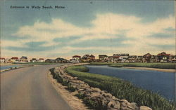 Entrance to Wells Beach, Maine