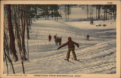 Skiers and Wintry Scene