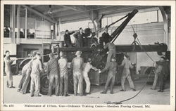 Maintenance of 155mm Gun, Ordinance Training Center Postcard