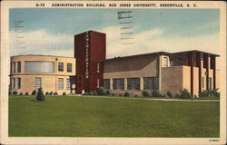 Administration Building, Bob Jones University Postcard