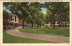 Portion of South Quadrangle with Dormitories, Hollins College