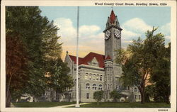 Wood County Court House Postcard