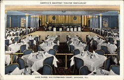 Chez Paree - America's Smartest Theater Restaurant Postcard
