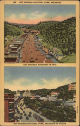 Hot Springs National Park in 1875 and today