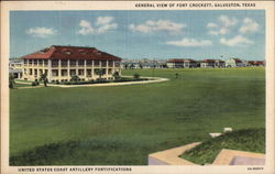 General View of Fort Crockett Postcard