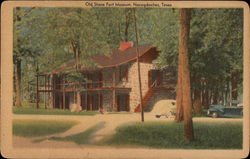 Stephen F. Austin College Campus - Old Stone Fort Museum Postcard