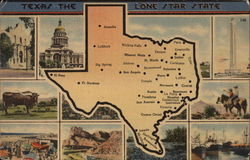 Texas - The Lone Star State - Views and Map