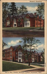 Western Michigan College - Women's Dormitory and Hall of Men