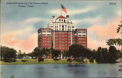 Lake Cliff showing Cliff Towers Hotel